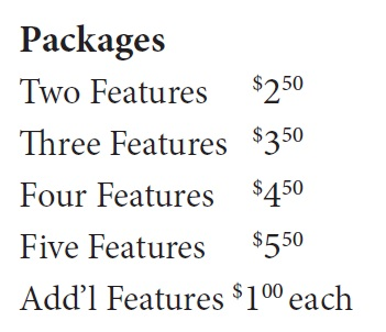 Bundle pricing for calling features